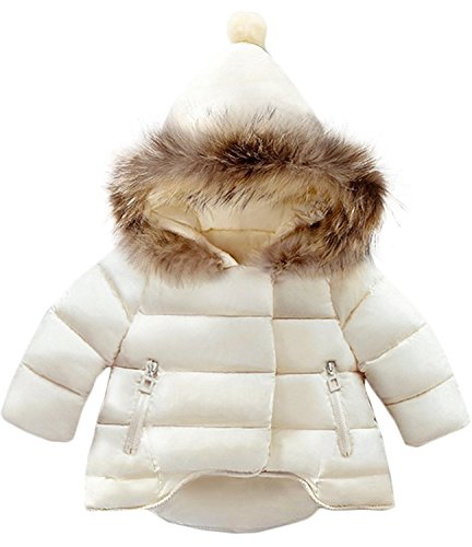Jojobaby Baby Boys Girls Hooded Snowsuit Winter Warm Fur Collar