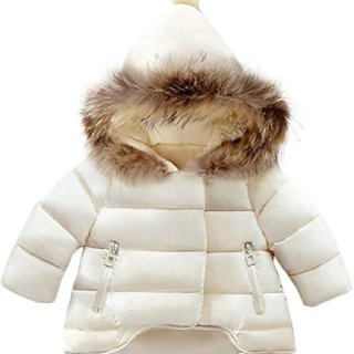 Jojobaby Baby Boys Girls Hooded Snowsuit Winter Warm Fur Collar