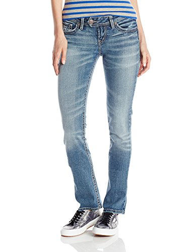 Silver Jeans Women's Tuesday Low Rise Slim Bootcut Jean
