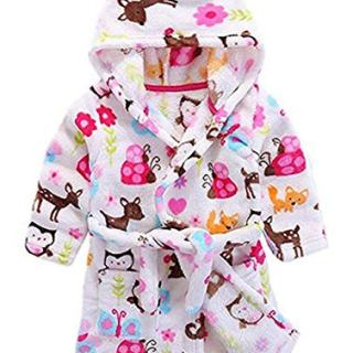 Toddler Kids Girls Robe,Children's Hooded Bathrobes Robes Pajamas