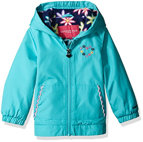 London Fog Baby Girls Floral Printed Fleece Lined Jacket