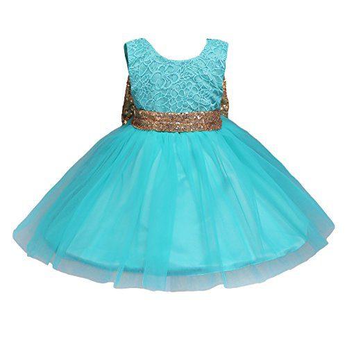 JiaDuo Baby Girl Lace Mesh Tutu Dress Sequin Bow Toddler Princess Gown