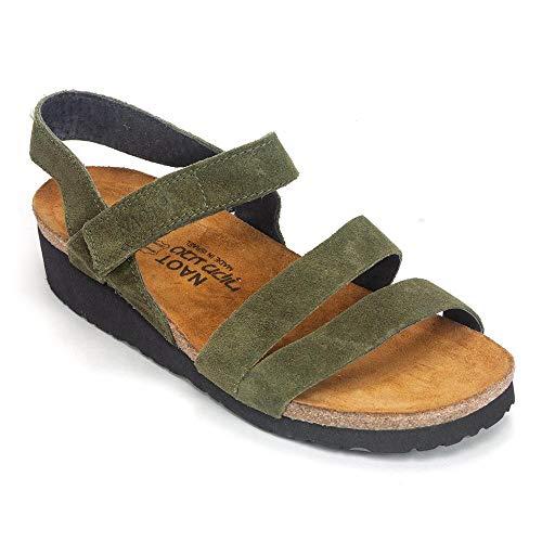 NAOT Footwear Women's Kayla Sandal Oily Olive Suede