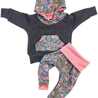 Baby Girls Clothes Newborn Long Sleeve Hoodie Sweatshirt Top