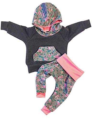 Baby Girls Clothes Newborn Long Sleeve Hoodie Sweatshirt Top