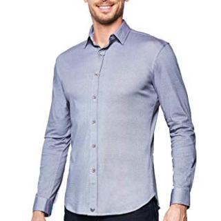 Buttercloth Silver Lining Button Down Dress Shirt in Gray