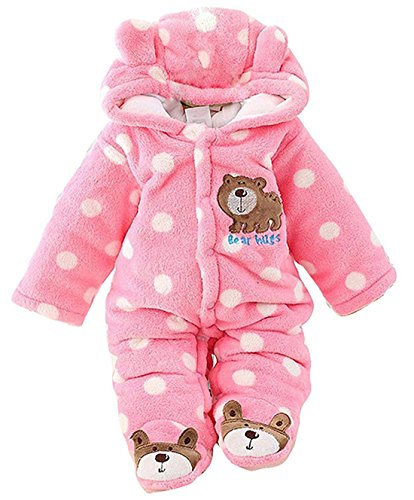 C&M Baby Jumpsuit Outfit Hoody Coat Winter Infant Rompers Toddler