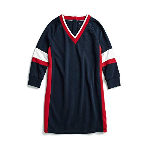 Tommy Hilfiger Women's Adaptive Sweatshirt Dress Varsity Stripe