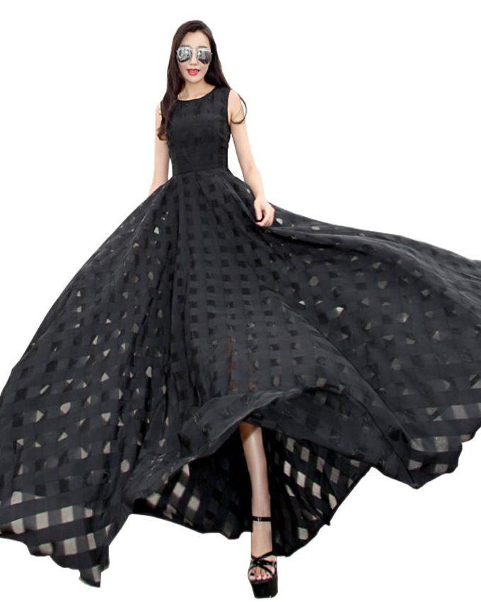 19 New Womens Summer Dress Elegant Vintage Black White