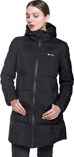 valuker Women's Seamless Hooded Down Coat Jacket