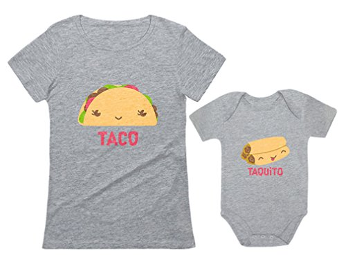 Taco & Taquito Baby Bodysuit & Women's T-Shirt Set