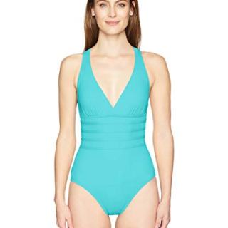 La Blanca Women's Island Goddess Multi Strap Cross Back One Piece Swimsuit