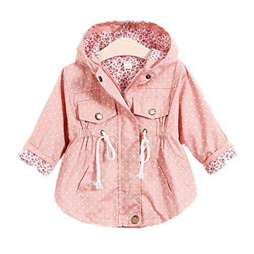 WINZIK Little Baby Girls Kids Outfits Spring Autumn Polka Dot