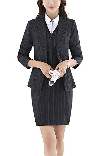 Women's Three Pieces Office Lady Blazer Suits Business Suit Set