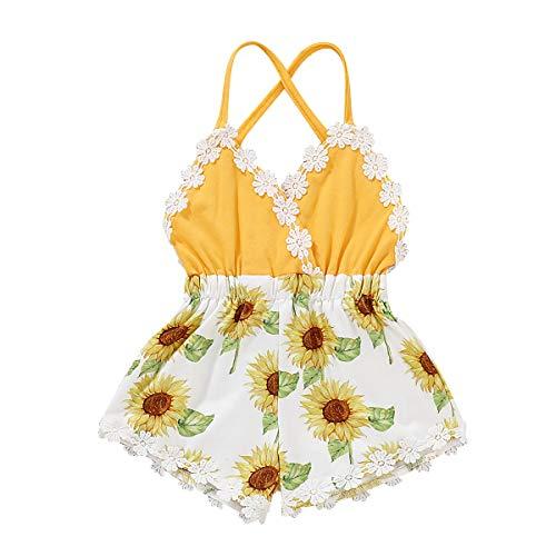 YOUNGER TREE Newborn Baby Toddler Girls Sunflower