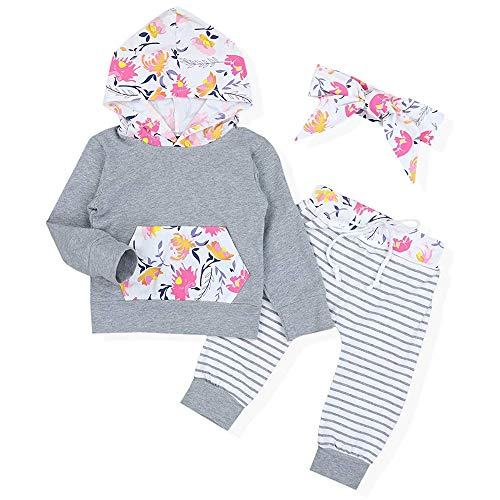 Sinhoon Baby Girl Floral Outfits Hoodie Kangaroo Pocket Top