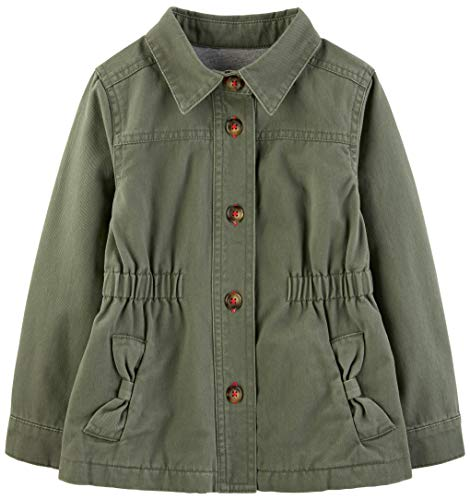 Simple Joys by Carter's Girls' Toddler Twill Button up Jacket,