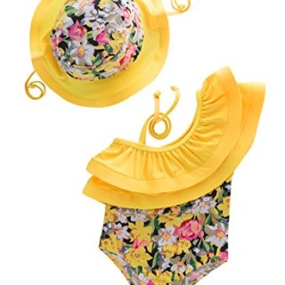 May's Kids Girl Onepiece 2 Pieces Swimwear Swimming