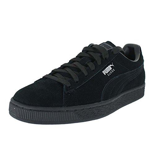 PUMA Men's Suede Classic + Low-Top Sneakers Black Size: 11
