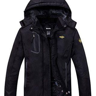 Wantdo Women's Mountain Waterproof Fleece Ski Jacket Windproof