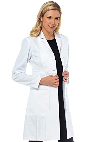 Med Couture Women's Lab Coat 36 inch Tailored Empire Long Length