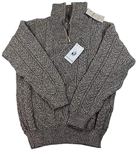 Kerry Woollen Mills Men's Wool Sweater Zipper 100% Organic Wool