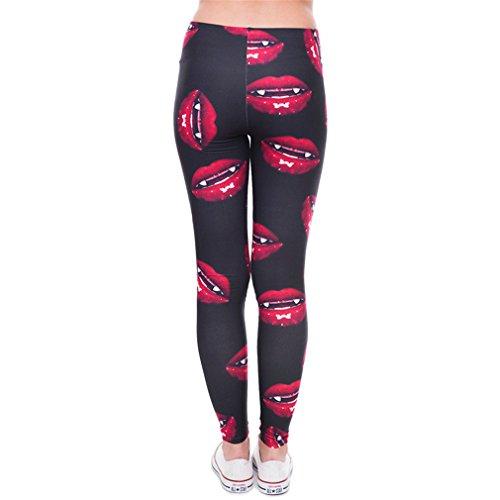 Girls Funny Skinny Leggings Basic Casual Leggins