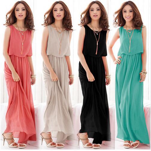 19 Boho Dress Chiffon Big Plus Size Summer Dress Long