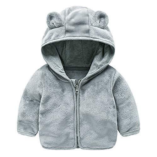 Jchen(TM) Baby Infant Girls Boys Autumn Winter Cute Ear Hooded Coat Jacket