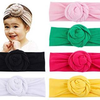 Baby Top Hat Cotton Head Wrap Elastic Headbands Turban