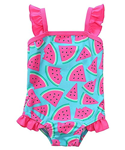 waliwali Newborn Baby Girl Swimsuit Watermelon Print
