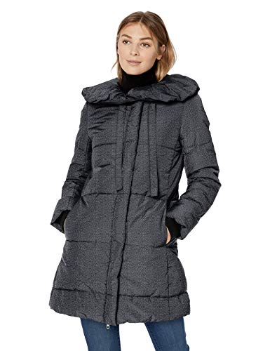 Lark & Ro Women's Long Shawl Pillow Collar Puffer Jacket