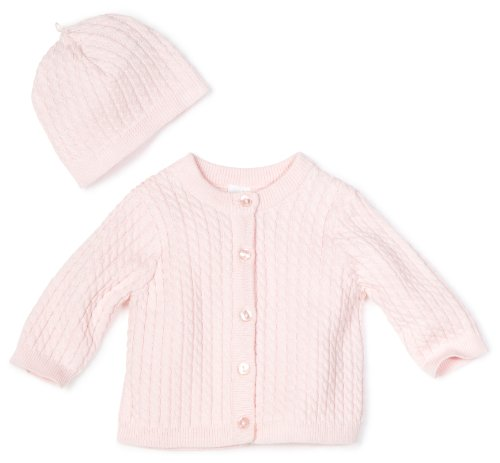 Little Me Baby Girl Newborn Adorable Cable Sweater
