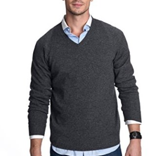 State Cashmere Men's 100% Pure Cashmere Long Sleeve Pullover