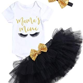 Mother's Day Outfit Newborn Baby Girl Mama's Mini Skirt Sets