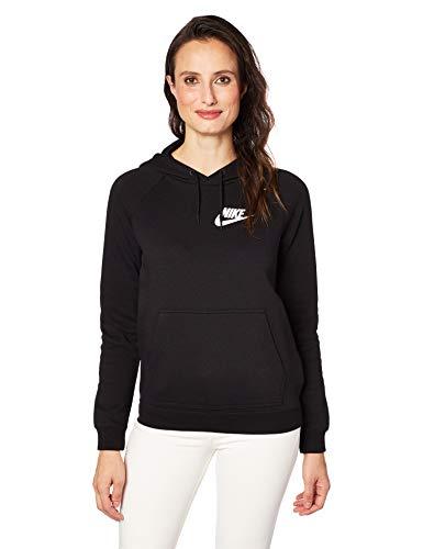 Nike Womens Rally Pull Over Hoodie Black/White