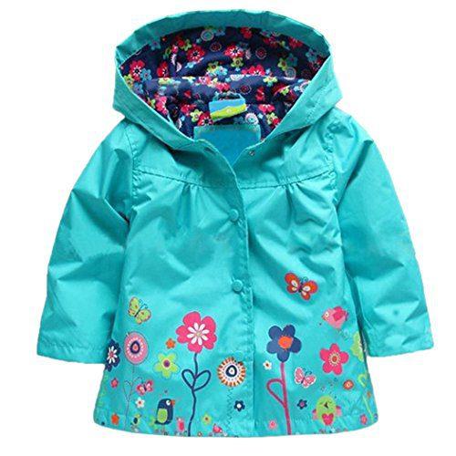 Arshiner Girl Baby Kid Waterproof Hooded Coat Jacket