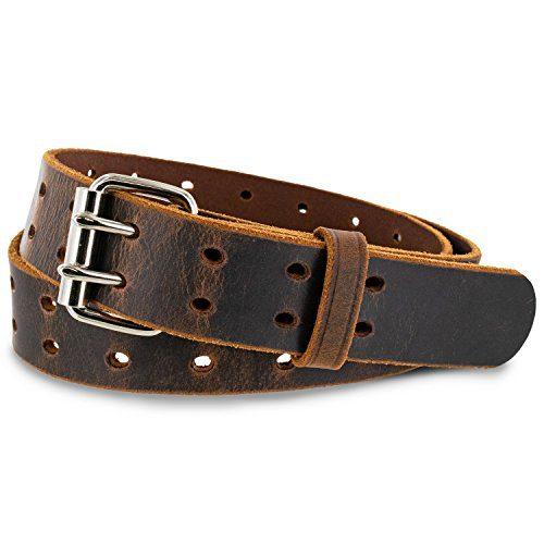 """Hanks Woodstock Belt - 1.5"""" Double Prong Men's Belt"""