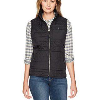 Carhartt Women's Amoret Flannel Lined Vest, Black, M