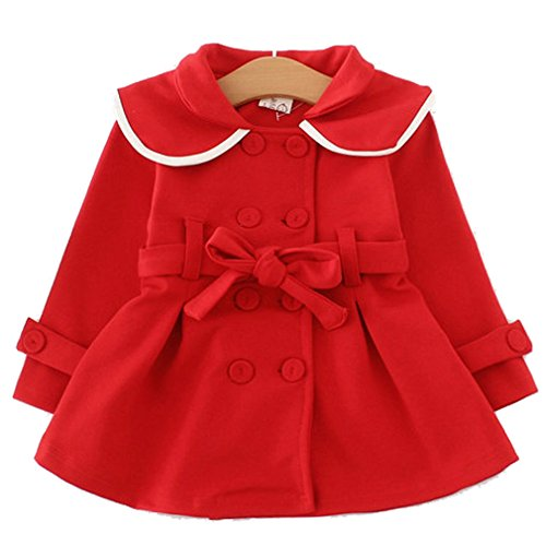 Baby Girls Long Sleeve Outwear Windbreaker Coat