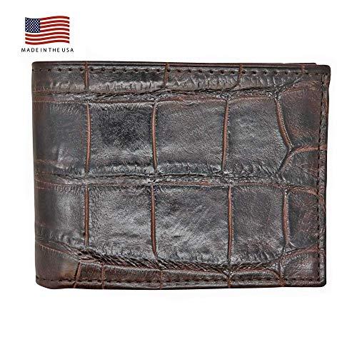Brown Genuine Millennium Alligator Bifold Wallet