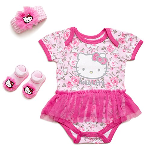 Hello Kitty Baby Girls' 3 Piece Gift Box with Tutu Onesie