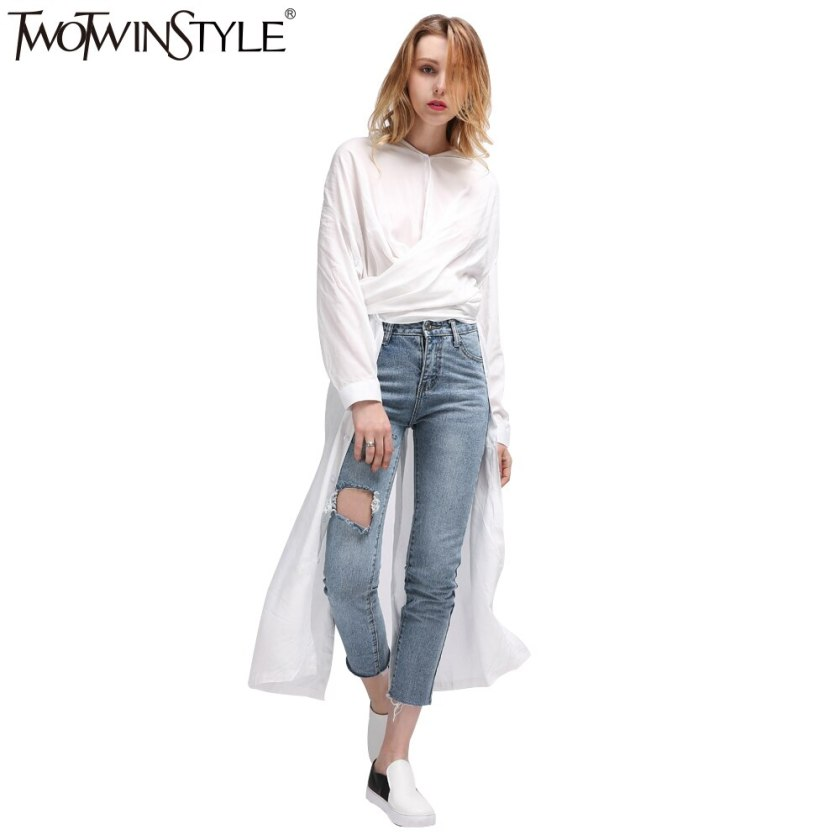 TWOTWINSTYLE Casual Midi Summer Dress Women's Shirt