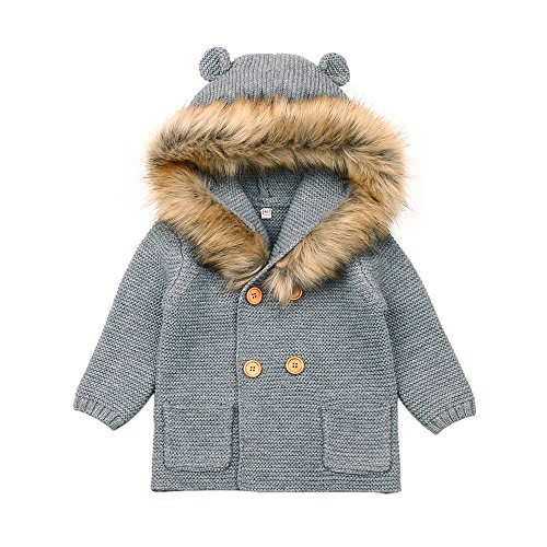 Toddler Girls Sweater Cardigan Button Up Kids Knit Coat