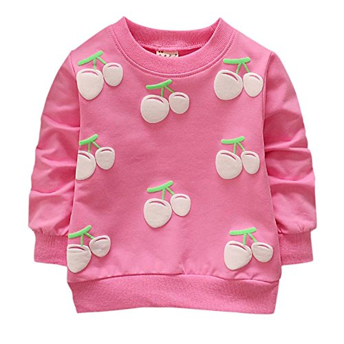 Baby Girls Long Sleeve Spring Autumn T-shirts Strawberry