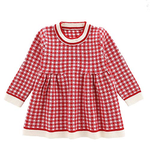 Moonnut Baby Girls Long Sleeve Pullover Sweater Dress