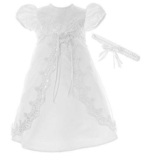 Lauren Madison Baby Girls' Christening Baptism 2 Piece Split Front Dress