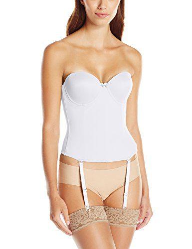 Va Bien Women's Ultra-Lift Low Back Bustier, White