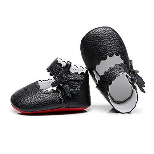 HONGTEYA Infant Baby Girls Red Sole Ballet Dress Shoes