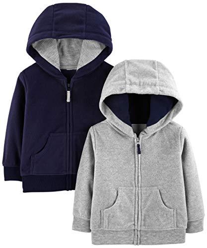 Simple Joys by Carter's Boys' 2-Pack Fleece Full Zip Hoodies